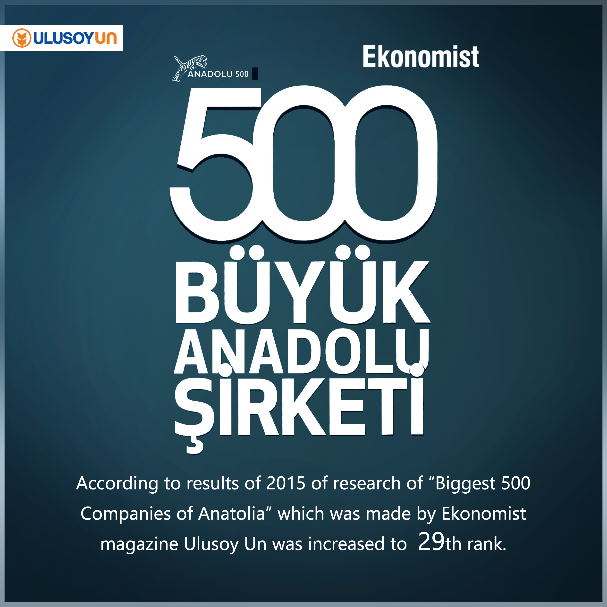 Ekonomist Magazine, research, Biggest Anatolian Companies